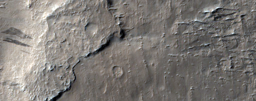 Sample of Layered Terrain Near Nicholson Crater