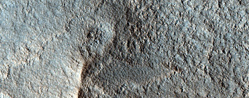 Possible Olivine in Crater Wall