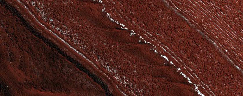 Exposure of North Polar Layered Deposits for Stratigraphic Analysis