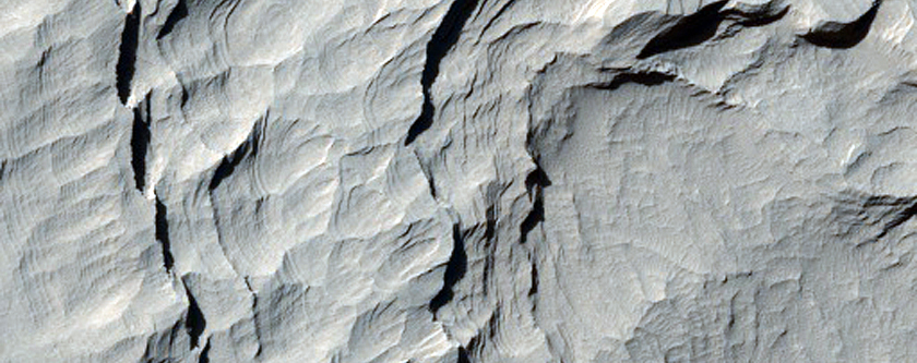Stair-Stepped Layered Exposed in Gale Crater