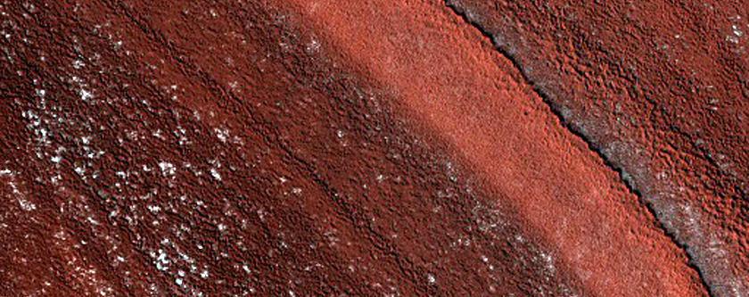 Exposure of Polar Layered Deposits on Ridges and Troughs