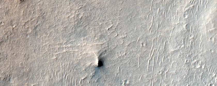 Inverted Channel in Miyamoto Crater