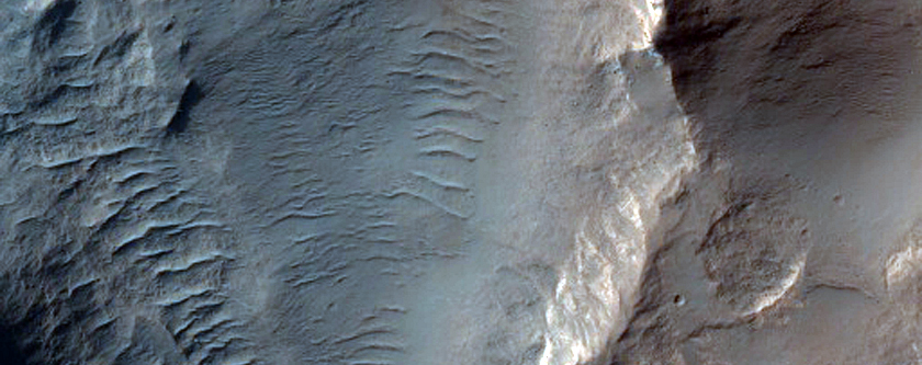 Layered Bedrock in Northeast Hellas Region