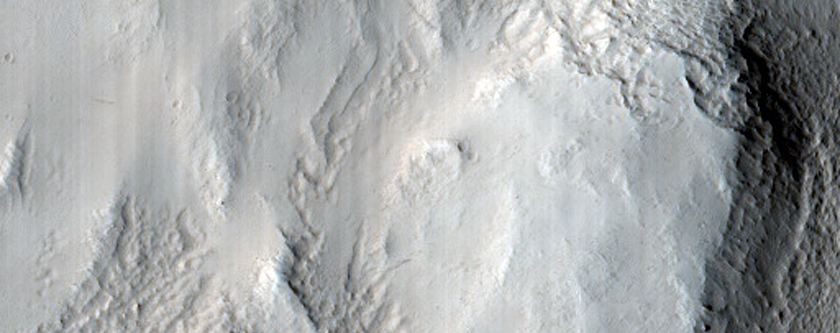 Rim of Eroded Crater Near Reykholt Crater