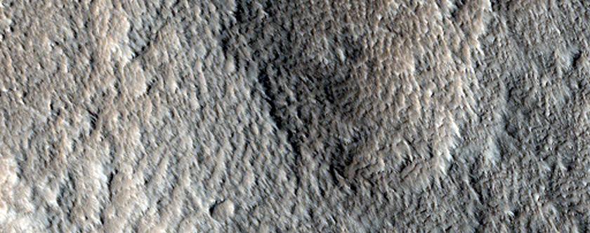 Terrain in Acheron Fossae Region