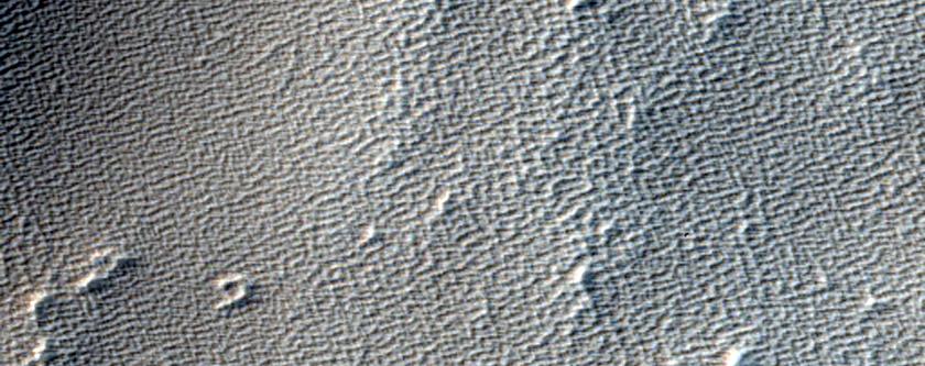 Arsia Sulci Region