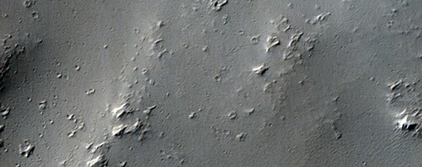 Sample of Flow on Plain North of West Tithonium Chasma