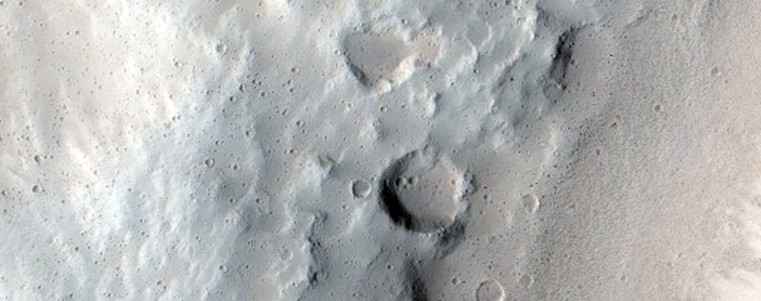 Eastern Rim of a Small Crater