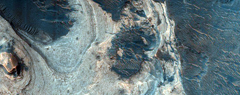 Clays Exposed in Channels along West Ladon Valles