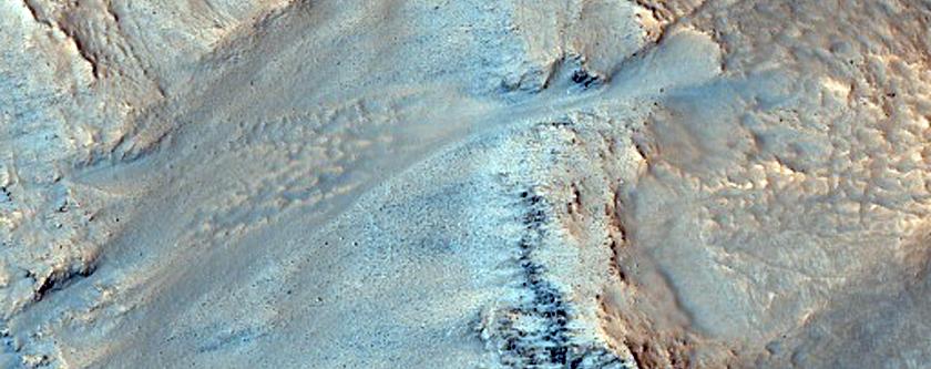 Western Rim of Bonestell Crater