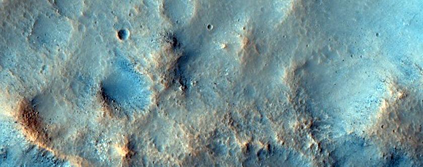 Scoured Crater Rim