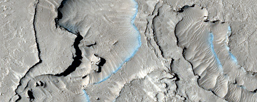 Volcanic Vent Near Athabasca Valles