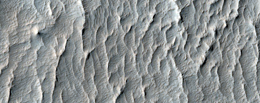 Sample of Mound of Material in Crater East of Schiaparelli Crater