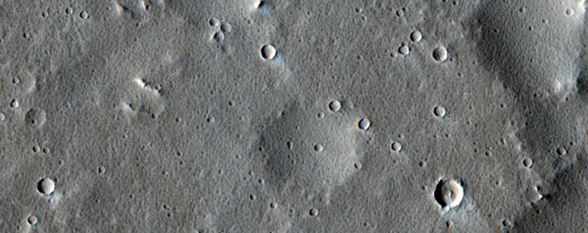 Sample of Discontinuous Ridge in the Uranius Fossae Region