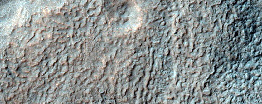 Layered Deposits North of Hellas Basin