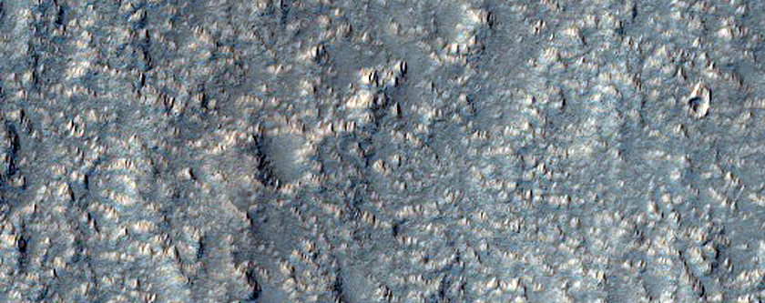 Braided Channels West of Hecates Tholus
