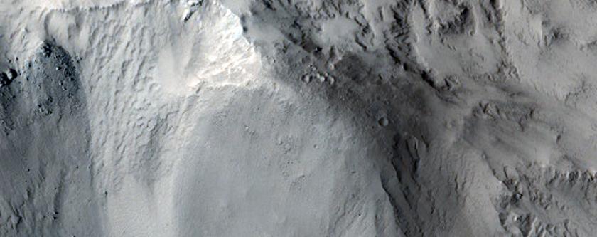 Rocky Central Peak in Arabia Terra
