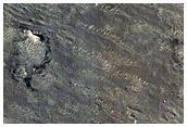 Dark Area on Crater Floor in Arabia Terra