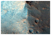 Central Structure of Large Crater in Western Arabia Terra