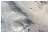 Central Structure of a Crater in Arabia Terra