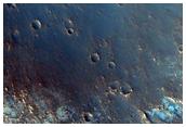 Eastern Oyama Crater Wall in Mawrth Vallis