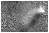 Fan and Dust Devil in Deuteronilus Mensa