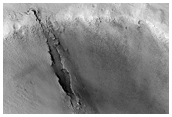 A Channel Cut into an Impact Crater