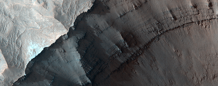 Layering at Ganges Chasma