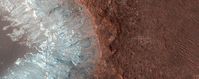 Scoured Bedrock on the Floor of Eos Chasma