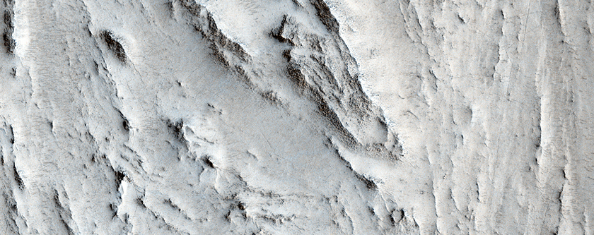 Crater Ejecta Deposit in Northeast Arabia Terra