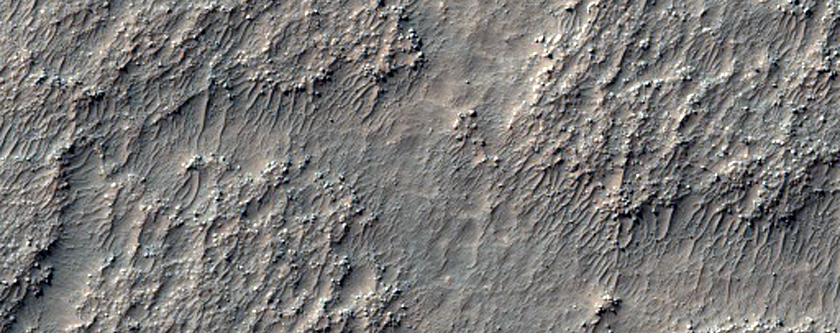 Complex Terrain in Middle of Crater in Terra Sirenum