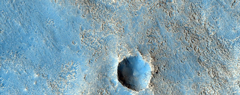 Double Layer Ejecta in an Arabia Region Crater