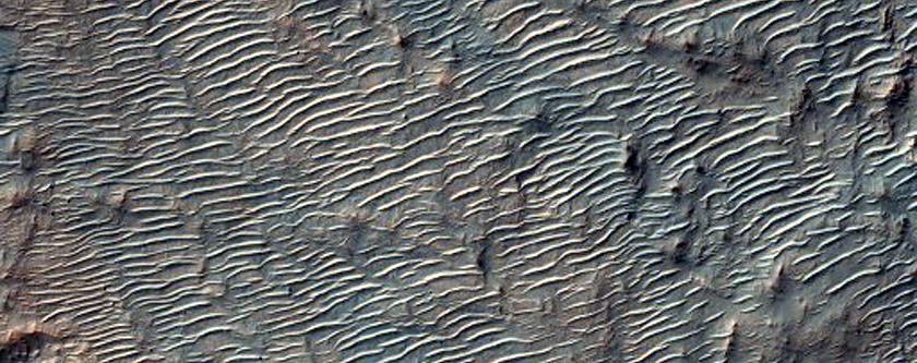 Bedrock North of Hellas Basin