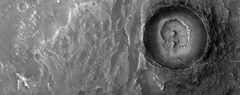 Fluvial Fan on a Crater Floor