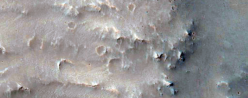 Possible Landslide on Crater Rim