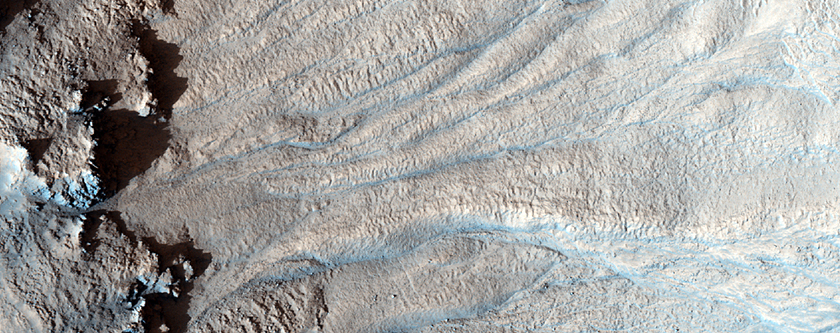Gullies in Bamberg Crater