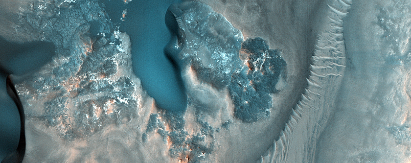 Crater with Gullies on a Central Structure