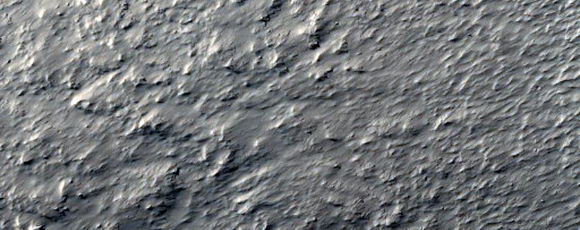 Ridges in  Debris Apron in Terra Cimmeria