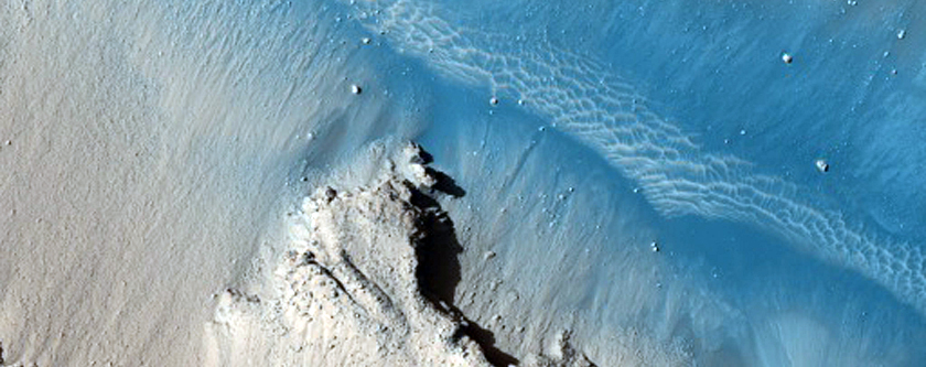 Slope Features in Cerberus Fossae