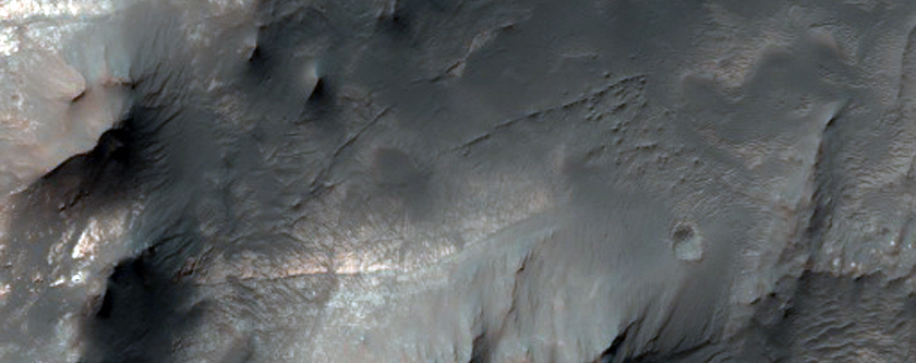 Central Structure of Jorn Crater