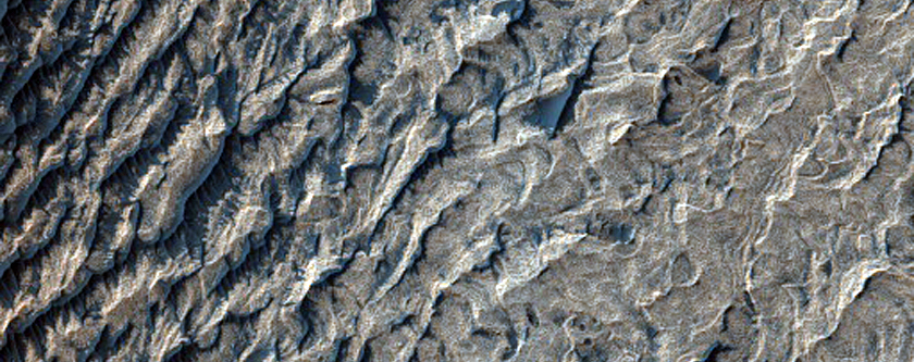Melas Chasma Scarp