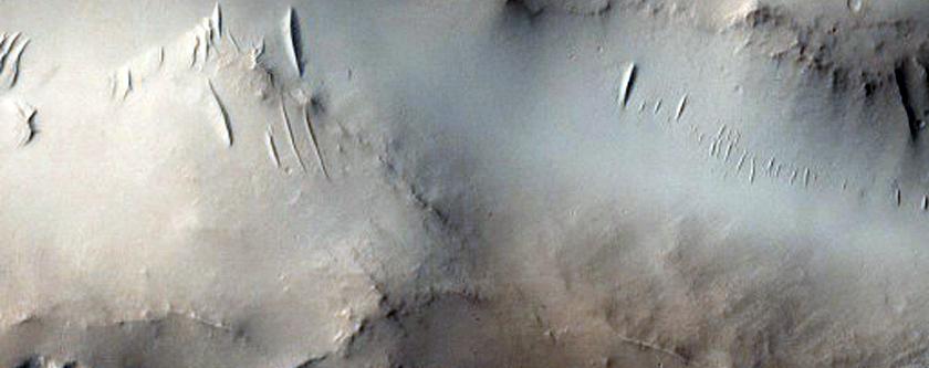 Small Impact into Layered Ejecta in Arabia Terra
