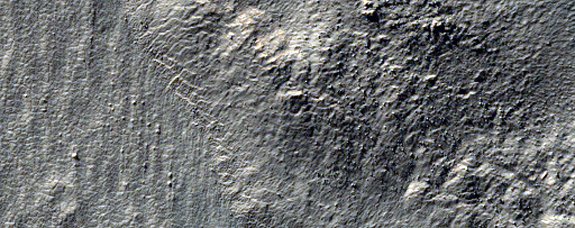 Mass Wasting Feature near Reull Vallis