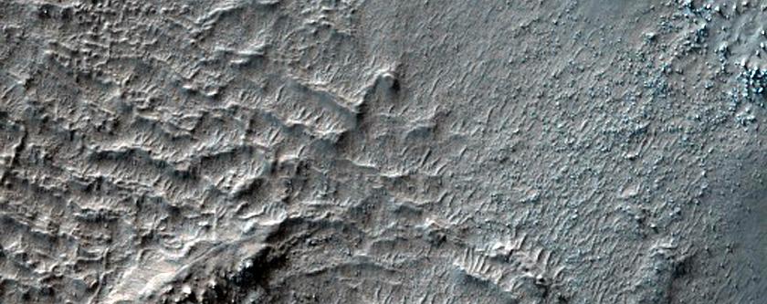 Knobs on Crater Floor