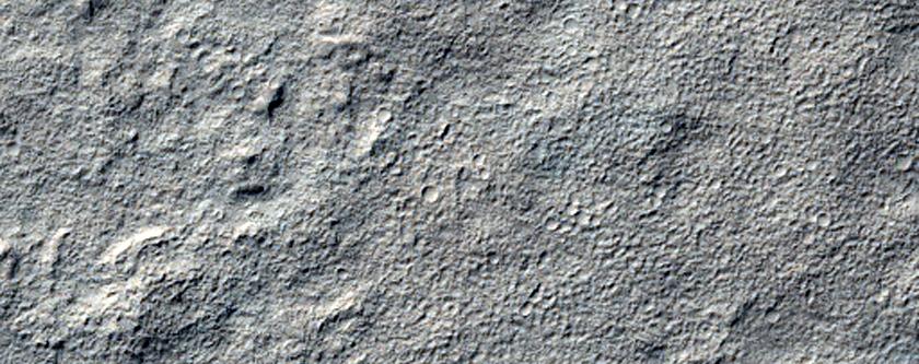 Possible Pingos Northeast of Reull Vallis