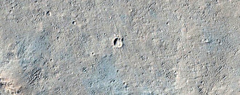 Ridges and Associated Valleys in Crater in Arabia Terra