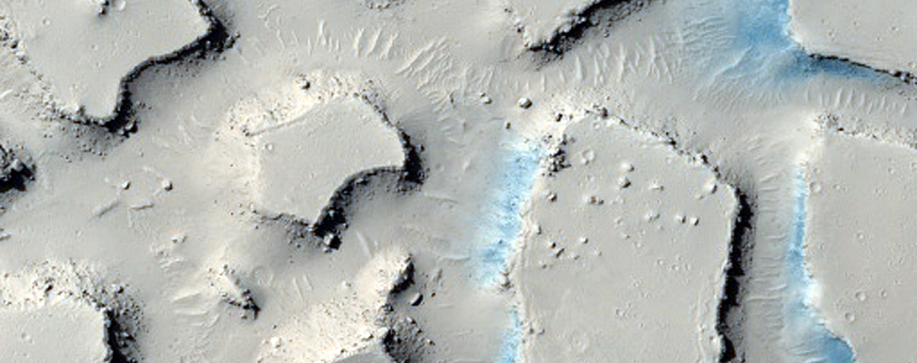Clusters of Buttes and Mesas among Flows South of Western Cerberus Fossae
