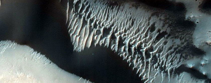 Dunes in Airy Crater