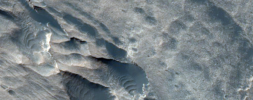 Layered Light-Toned Rounded Blocks in Melas Chasma