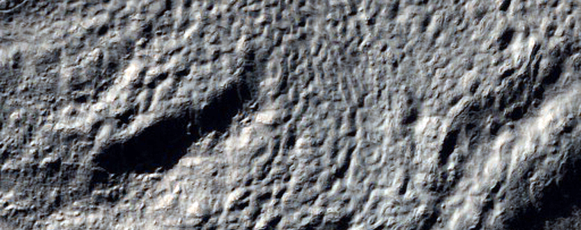 Troughs and Ridges on Crater Floor in Hellas Montes Region